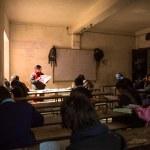 Children in the lesson — Stock Photo