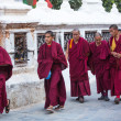 Unidentified monks — Stock Photo