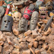 Masks in street at Durbar Square — Stock Photo #39533283