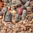 Masks in street at Durbar Square — Stock Photo #39533293