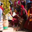 Unidentified monks circle Boudhanath — Stock Photo #39533407