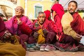 Buddhist pilgrims — Stock Photo