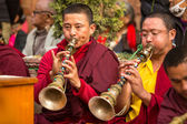 Tibetan Buddhist monks — Stock Photo
