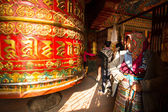 Big Tibetan Buddhist prayer — Stock Photo