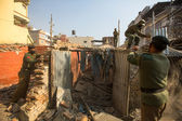 Nepalesiska polisen under drift — Stockfoto