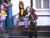 Guard of King Tribhuwan Memorial Museum — Foto Stock