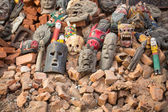 Masks in street at Durbar Square — Stock Photo