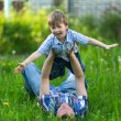 Father playing with his son — Stock Photo