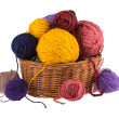 Balls colored threads — Stock Photo