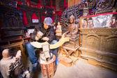 Unidentified Nepalese man working — Stock Photo