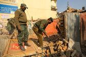 Nepalesiska polisen under en operation — Stockfoto