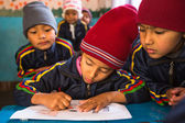 Pupils in English class at primary school — Stok fotoğraf