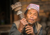 Portrait of unidentified Nepalese man — Stock Photo