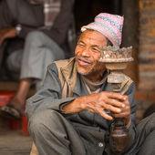 Portrait of unidentified Nepalese man — Stock Photo