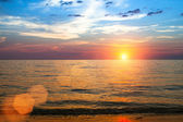Beautiful sunset in the Siam Gulf — Stock Photo
