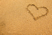 Inscription heart of sand texture. — Stockfoto