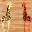 Two giraffe — Stock Vector