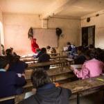 Unknown children in the lesson at public school. — Stock Photo #40565365