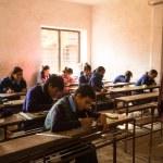 Unknown children in the lesson at public school. — Stock Photo #40565449