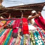 Unidentified street seller in Kathmandu, Nepal — Stock Photo #40565501
