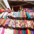 Unidentified street seller in Kathmandu, Nepal — Stock Photo