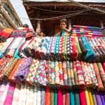 Unidentified street seller in Kathmandu, Nepal — Stock Photo #40565523