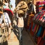 Unidentified street seller in Kathmandu, Nepal — Stock Photo #40565551