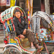 Unidentified nepali rickshaw in Kathmandu, Nepal. — Stock Photo #40565567