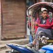 Unidentified nepali rickshaw in Kathmandu, Nepal. — Stock Photo #40565579