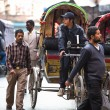 Unidentified nepali rickshaw in Kathmandu, Nepal. — Stock Photo
