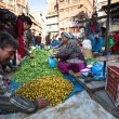 Stock Photo: Unidentified street vendor in Nepal