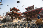 Old Durbar Square with pagodas in Kathmandu, Nepal — Stock Photo