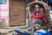 Unidentified nepali rickshaw in Kathmandu, Nepal. — Stock Photo