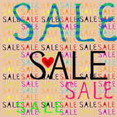 Banner with SALE text — Stock Vector
