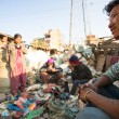 People working in sorting of plastic on dump — Stock Photo #40878833