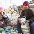 People working in sorting of plastic on dump — Stock Photo #40878847