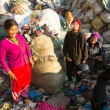 People working in sorting of plastic on dump — Stock Photo #40878869