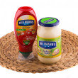 Stock Photo: Hellmann's mayonnaise and ketchup