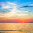 Beautiful sunset over ocean. — Stock Photo #40879433