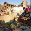 Stock Photo: People from poorer areas working in Kathmandu, Nepal