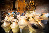 Trabalho de nepalese tinmans — Foto Stock
