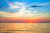 Beautiful sunset over ocean. — Stock Photo