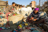 People from poorer areas working in Kathmandu, Nepal — Stock Photo