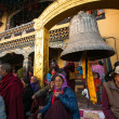 Stock Photo: Unidentified Buddhist pilgrims