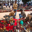 Stock Photo: Unidentified sellers souvenirs at Durbar Square
