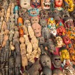 Постер, плакат: Unidentified sellers souvenirs at Durbar Square