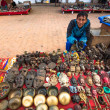 ������, ������: Unidentified sellers souvenirs at Durbar Square
