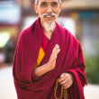 Portrait of unidentified monk — Stock Photo