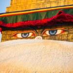 Close-up Buddha Eyes of Bodhnath Stupa in Kathmandu. — Stock Photo #41444313