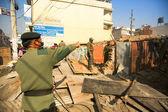 Okänd nepalesiska polisen — Stockfoto